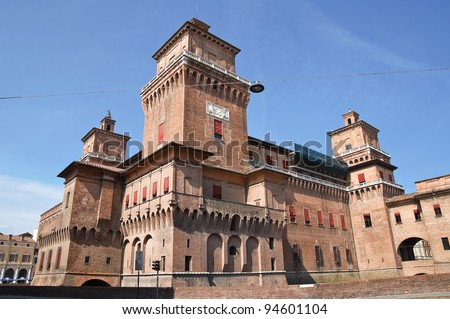 Estense Castle. Ferrara. Emilia-Romagna. Italy. - stock photo