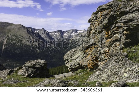 Lichen peak stock images royalty free images vectors shutterstock estes park colorado usa the rocky mountains with large lichen covered rock formations sciox Image collections