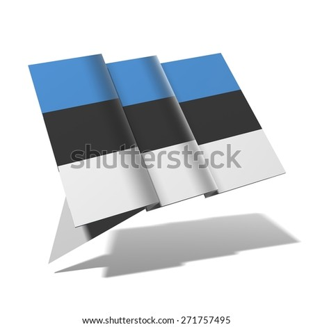 Estonia flag 3D banner - stock photo
