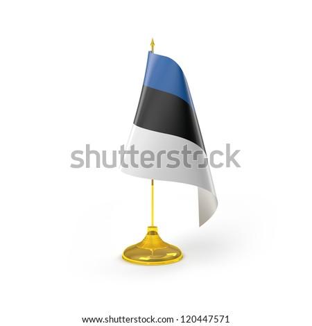 Estonia Flag Detail Render - stock photo