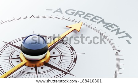 Estonia High Resolution Agreement Concept - stock photo