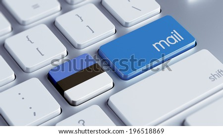 Estonia High Resolution Mail Concept - stock photo