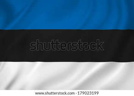 Estonia national flag background texture. - stock photo