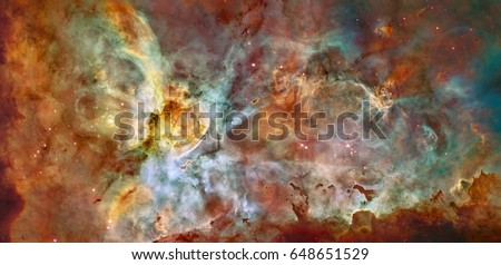 Eta Carinae Nebula in the constellation Carina, located in the Carina-Sagittarius Arm. Elements of this image furnished by NASA.