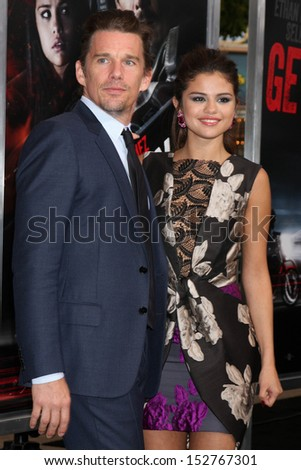 "Ethan Hawke, Selena Gomez at the ""The Getaway"" Los Angeles Premiere, Village Theater, Westwood, CA 08-26-13"