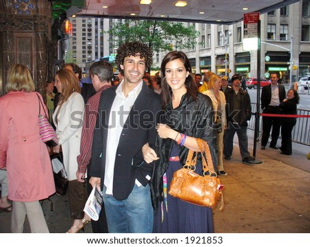 Ethan Zohn and Jenna Morasca at the finale of Survivor Exile Island, May 14, 2006 New York City