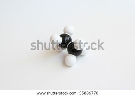 Ethane Molecule - stock photo