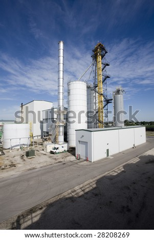 Ethanol biomass refinery plant - stock photo