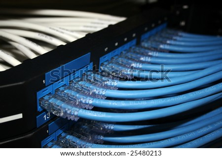 Ethernet Router Cables - stock photo