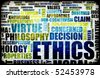 Ethics Concept Idea as a Background Illustration - stock photo