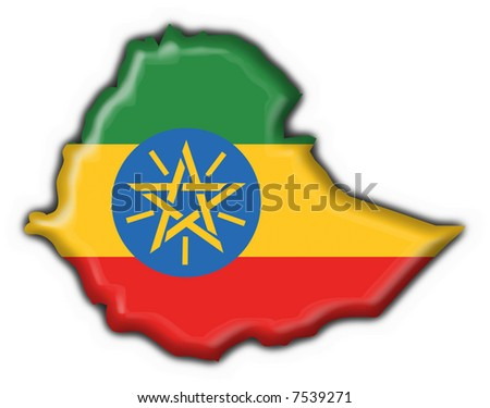 ethiopia button flag map shape