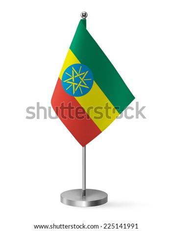 Ethiopia flag - table flag - stock photo