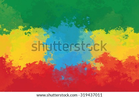 Ethiopian flag - grunge design pattern - stock photo