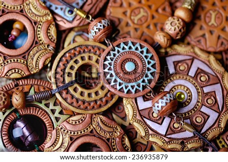 ethnic jewelry handmade from clay