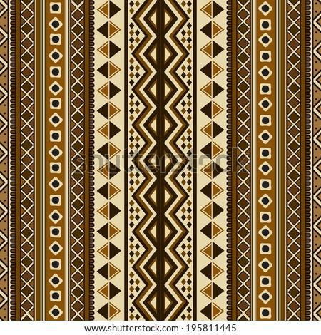 Ethnic pattern design, abstract art  - stock photo