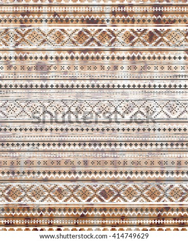 ethnic rug carpet - stock photo