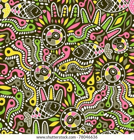ethnic seamless pattern - stock photo