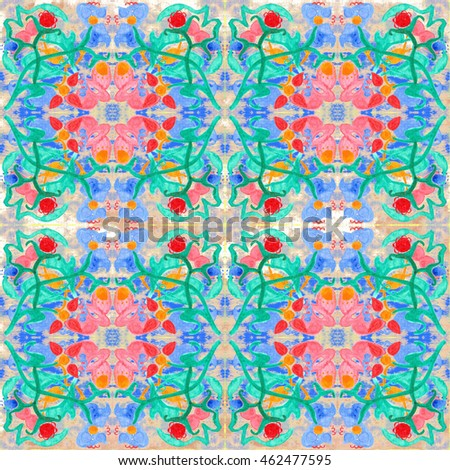 Ethnic seamless pattern. Tribal art boho print, abstract vintage ornament. Background texture, decoration