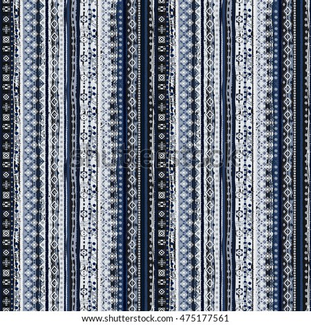 Ethnic seamless pattern. Tribal art boho print, border ornament. Background texture, decoration