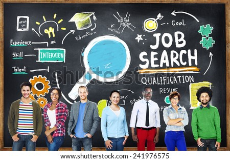 Ethnicity Business People Career Job Search Concept - stock photo