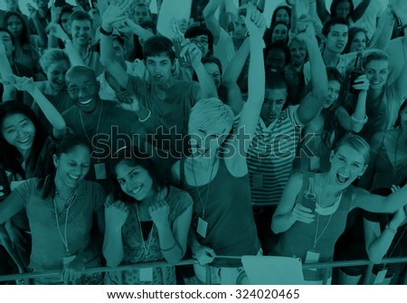 Ethnicity Variation Business People Friendship Team Concept - stock photo