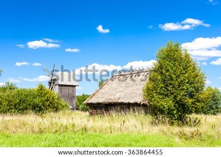 ethnographic park of Russian culture, Bialowieski national park, Podlaskie Voivodeship, Poland - stock photo