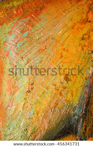 Ethnography,  The picture painted in oils. Abstract pattern