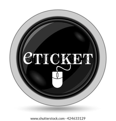 Eticket icon. Internet button on white background. - stock photo
