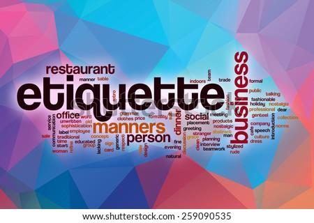 business etiquette stock images royalty free images vectors shutterstock. Black Bedroom Furniture Sets. Home Design Ideas