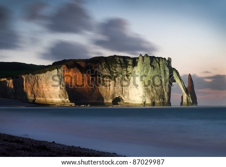 Etretat - Normandie - France - stock photo