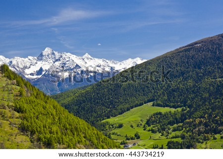 Etroubles in the Valle d'Aosta region of Italy