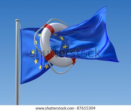 EU crisis concept - stock photo