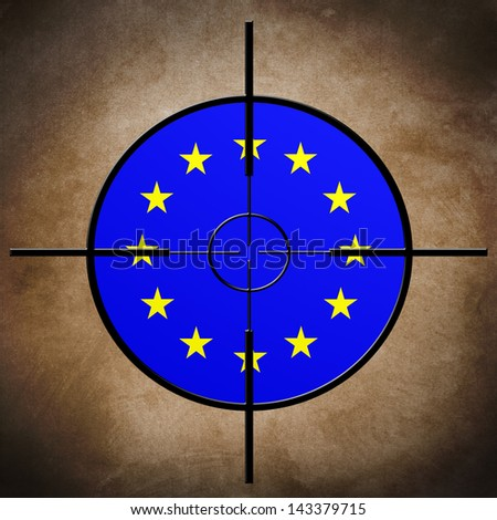 EU flag target - stock photo