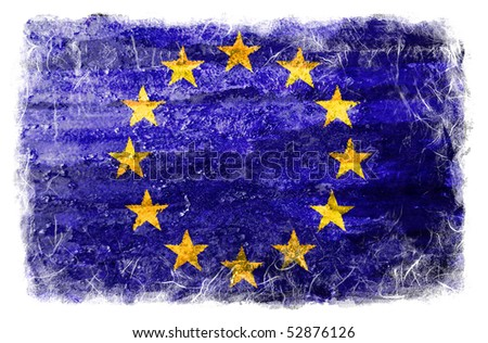 EU grunge flag - stock photo