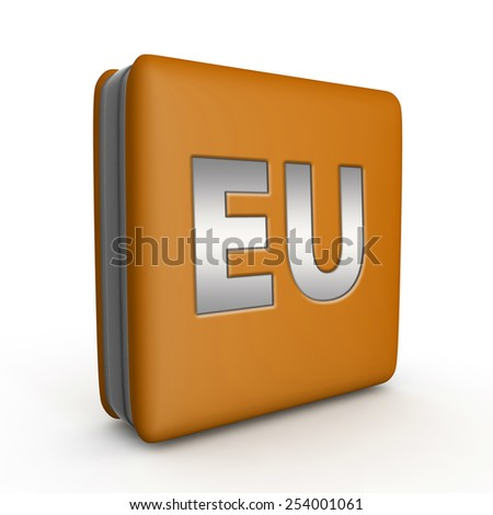 EU square icon on white background
