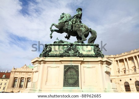 Eugene of Savoy statue in Vienna