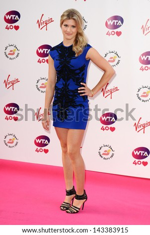 Eugenie Bouchard arriving for the WTA Pre-Wimbledon Party 2013 at the Kensington Roof Gardens, London. 20/06/2013 - stock photo