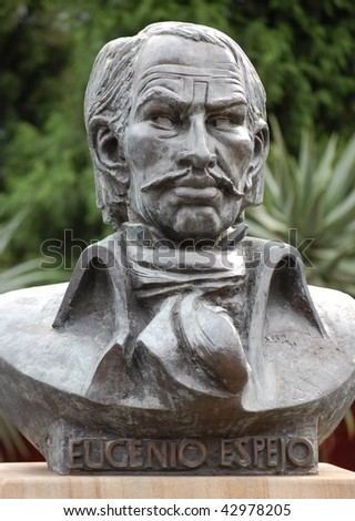 Eugenio Espejo - medical pioneer, writer and lawyer of mestizo origin in colonial ecuador. This statue is next to Central station, sydney, australia and is in the public domain.