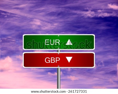 EUR GBP UK euro british pound sterling symbol currency money. - stock photo