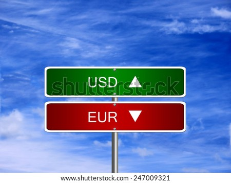 EUR USD symbol icon up down currency forex sign. - stock photo