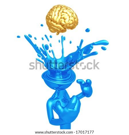 Eureka Brain - stock photo