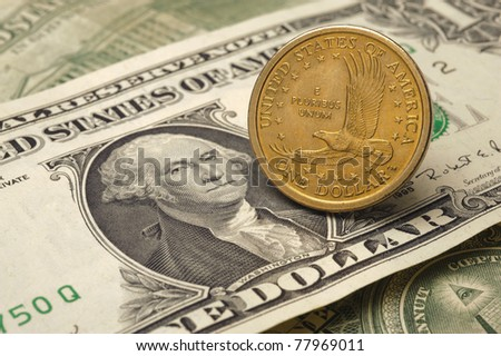 euro and dollar currency - stock photo