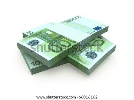 Euro 100 banknote currency (clipping path)