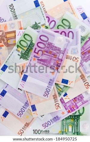 Euro Banknotes ( 50, 100, 500 ) - stock photo