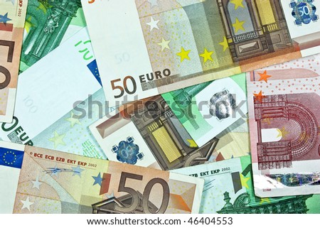 Euro banknotes as a background