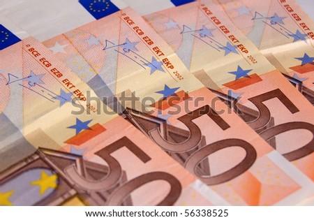 Euro banknotes close up - stock photo