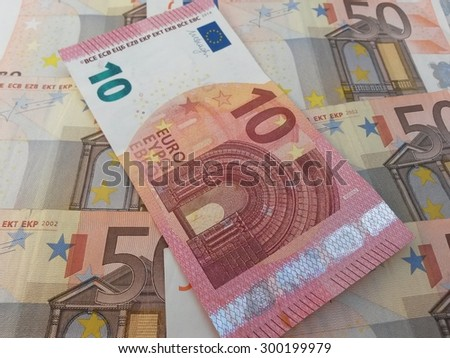 Euro banknotes currency of the European Union - stock photo