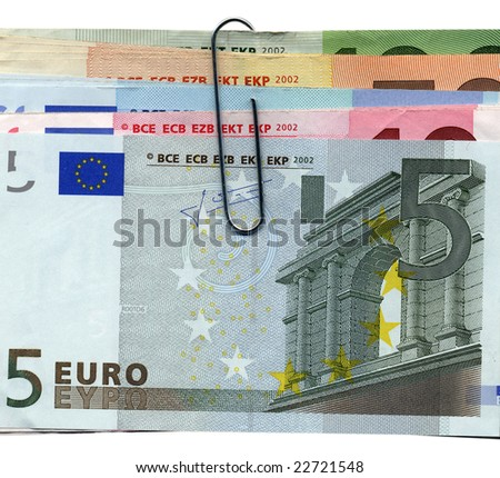 Euro banknotes money european currency