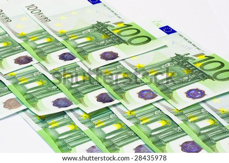Euro banknotes money, european currency background