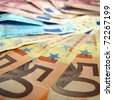 Euro banknotes money useful as a background - stock photo